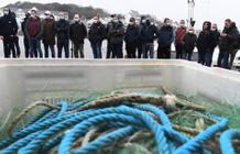 "Fishermen demonstrate against trawlers ""who plunder the resource"""