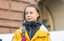 A Swedish stamp featuring Greta Thunberg now on sale