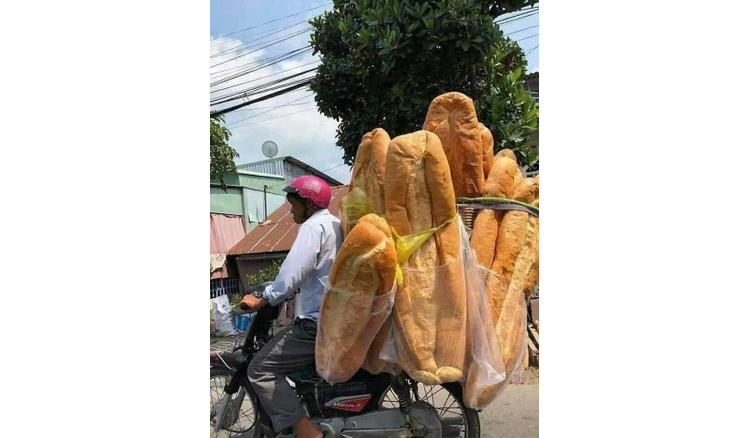 Giant bread in An Giang, Vietnam