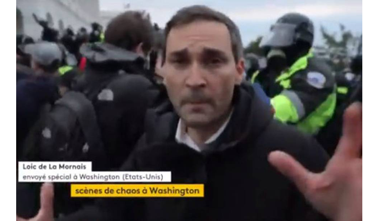 "Loïc de La Mornais ""surprised by the restraint of the police"" at the Capitol"