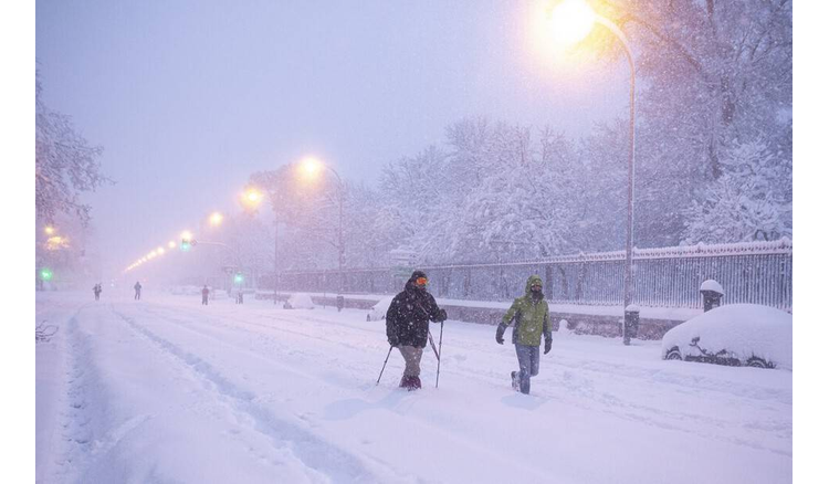 What happened in Madrid to make the city crumble in snow?